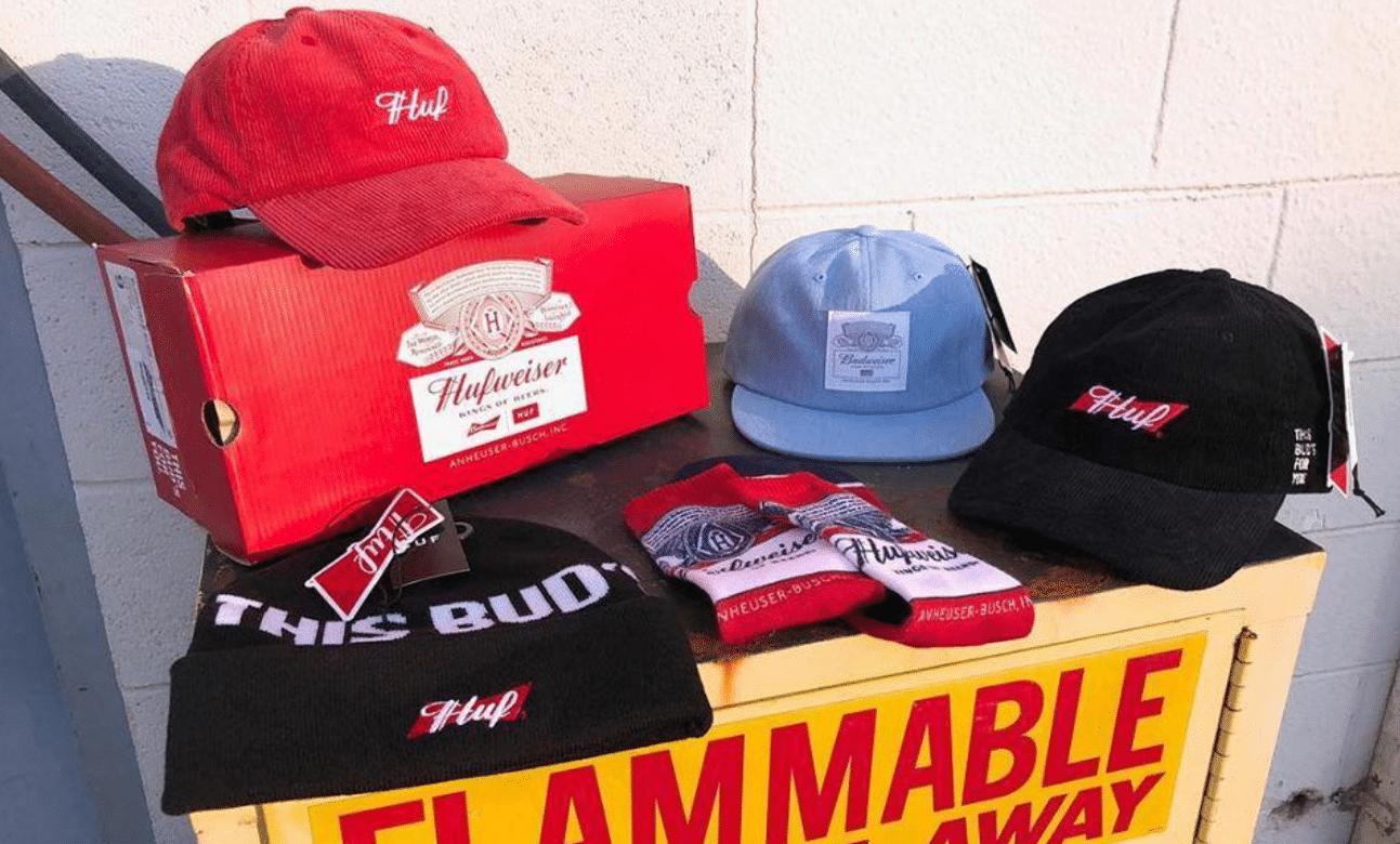 gorros huf flexfit y como puede una marca crear su propio merchandising