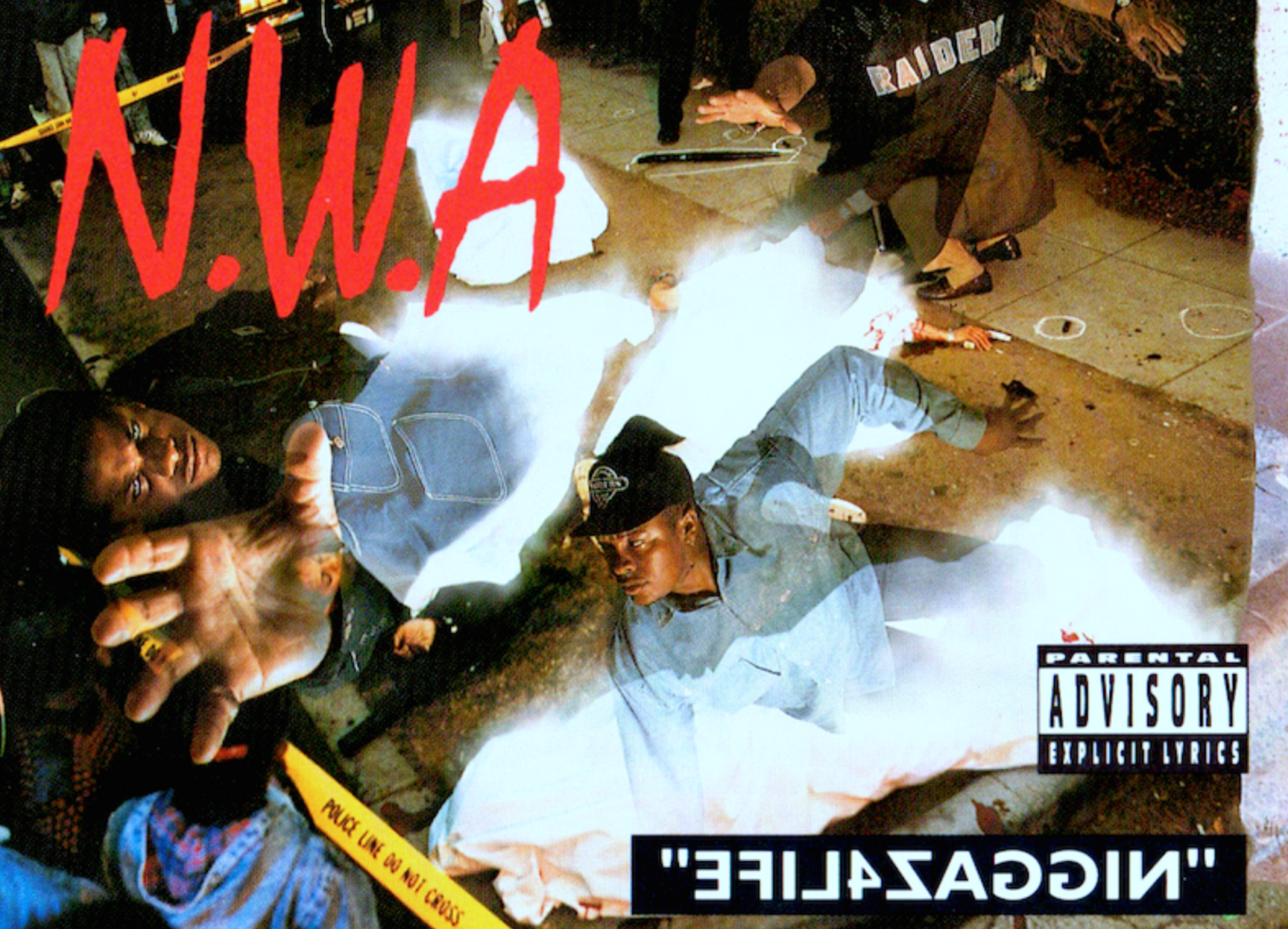 Integrantes del grupoálbum Niggaz4Life donde N.W.A nuevamente la voz de una ciudad marcada por el nacimiento del Gangsta Rap
