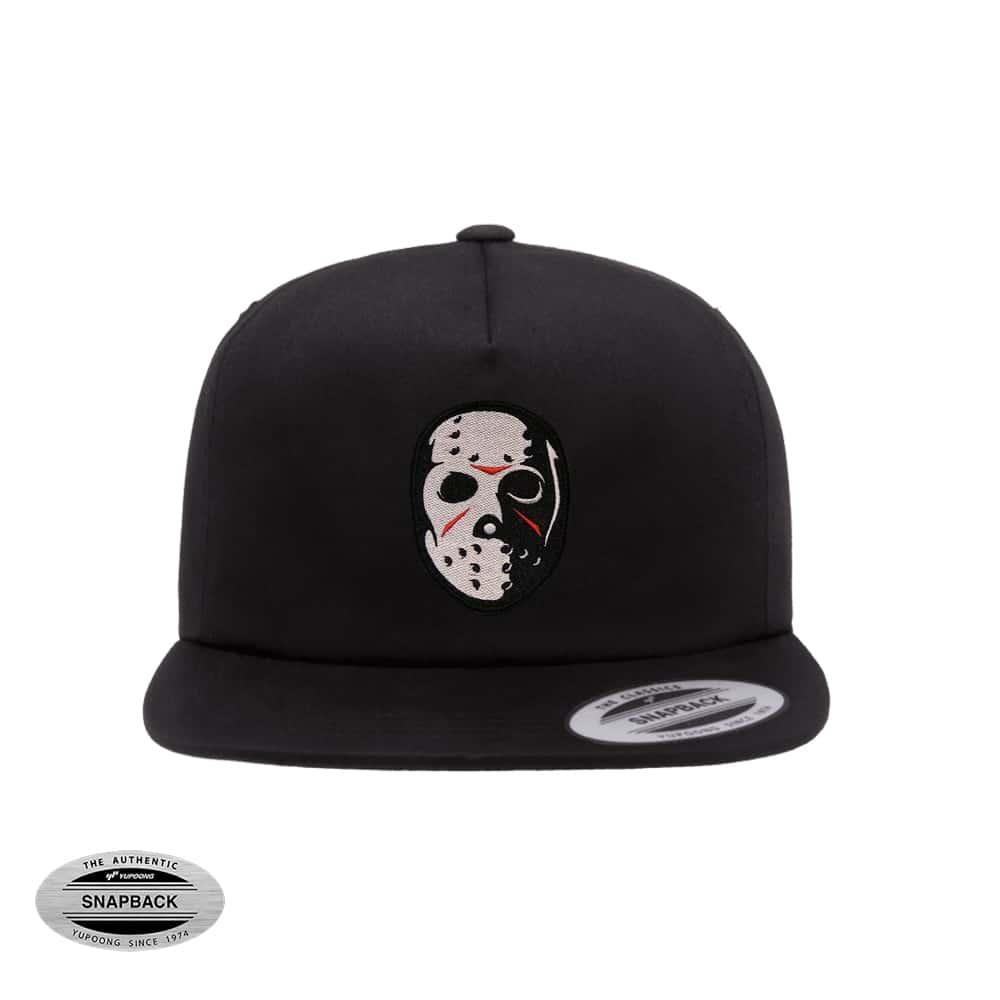 Snapback sin estructura 6502 con bordado de la máscara de Jason