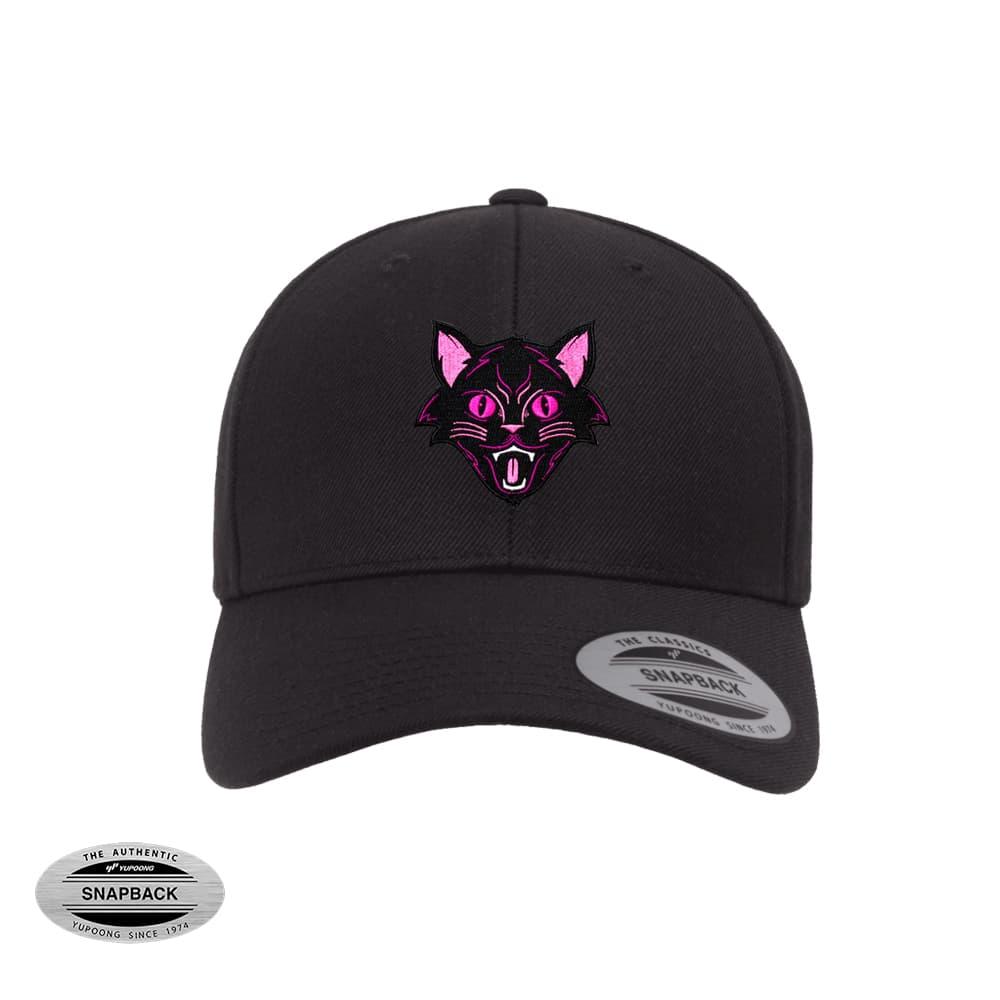 snapback 6789_black cat negro