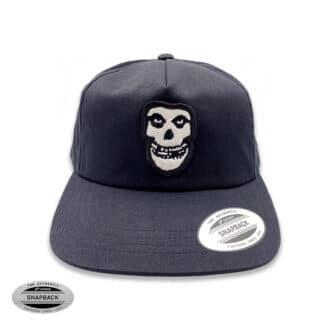 Misfits Skull Snapback Flexfit, gorro de la línea The classics, de color negro con parche bordado frontal